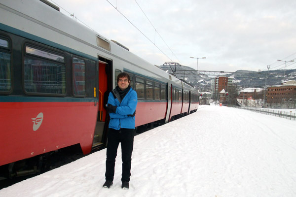 Lillehammer train station in the winter