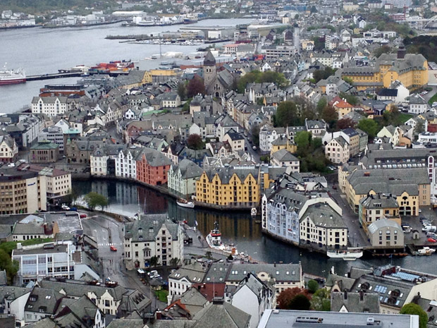 View of Ålesund town centre