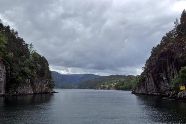 Sailing around Osterøy near Bergen