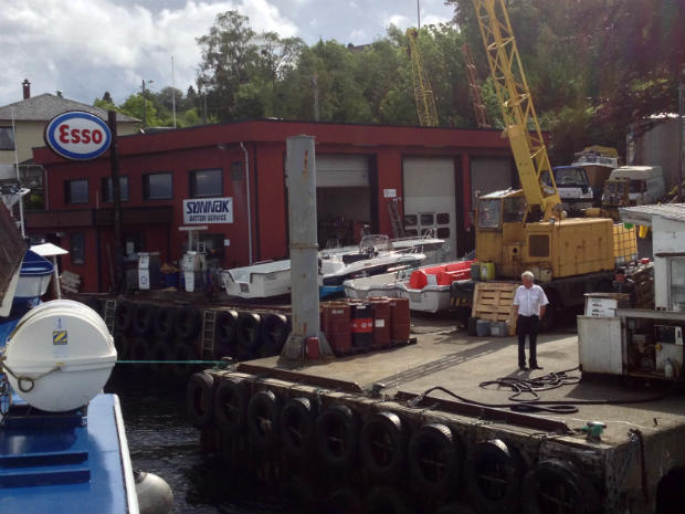 An Esso service station for boats