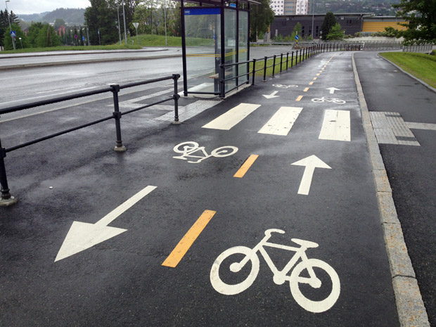 Cycle paths in Trondheim