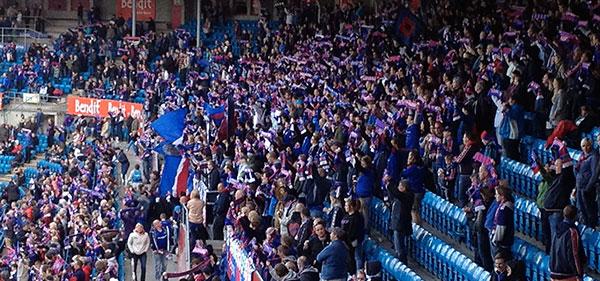 VIF fans at Ullevaal Stadion