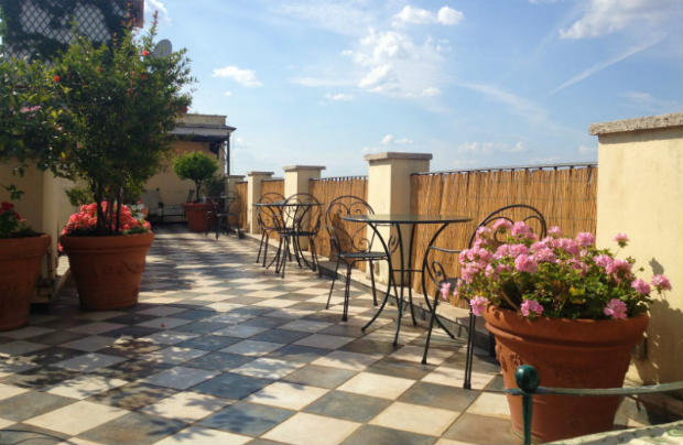 Roof terrace at Nord Nuova Roma