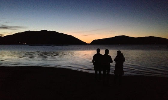 Sunset at Tromsø Friluftsenter