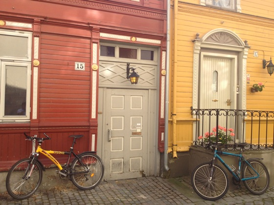 Lovely street in Trondheim