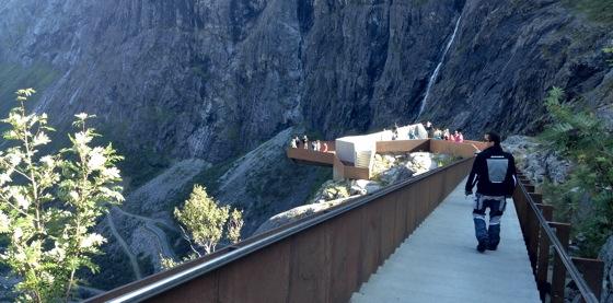 Visitor viewpoints at Trollstigen