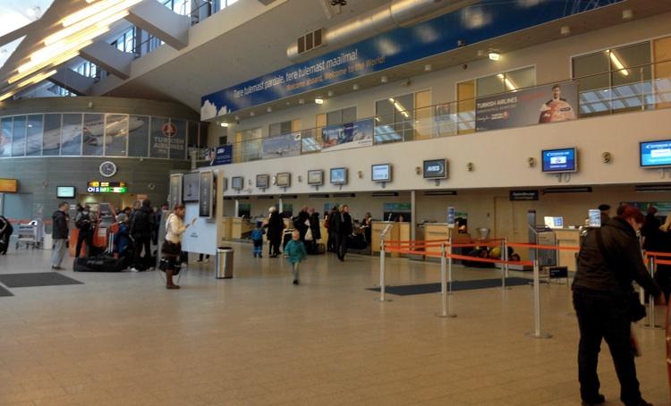 Tallinn Airport check-in