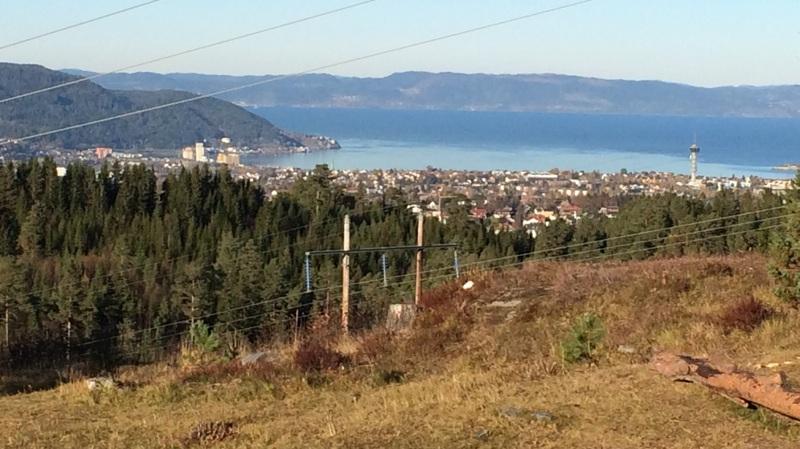 View across Trondheim from Estenstadhytta