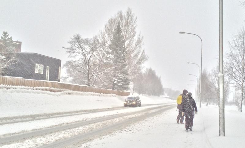 Kong Øysteins veg in the winter