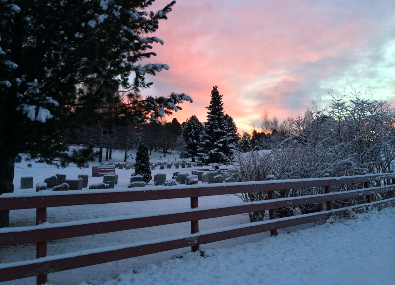 Winter sunrise in Trondheim