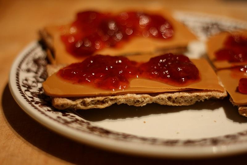Brunost and jam
