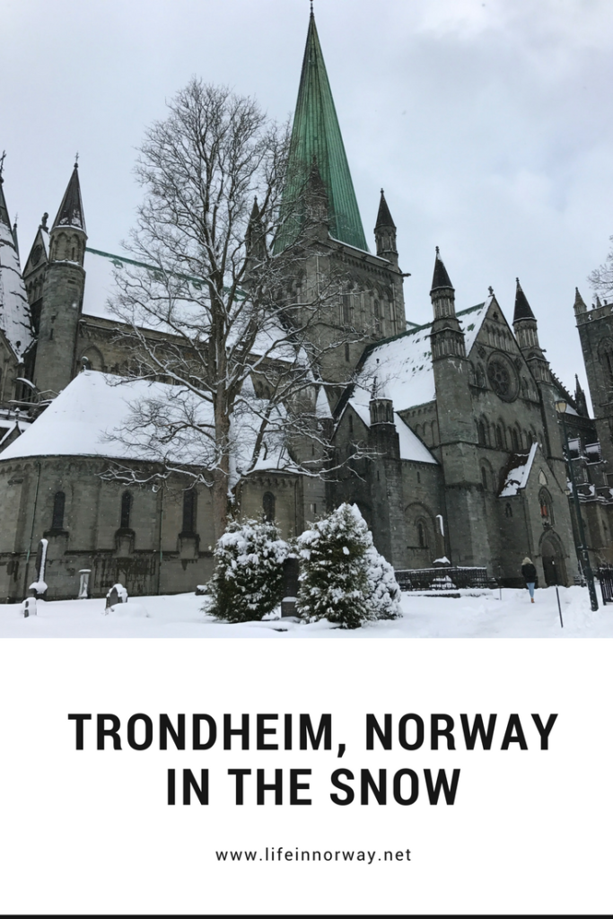 Trondheim, Norway, in the snow. Beautiful winter photography from Scandinavia