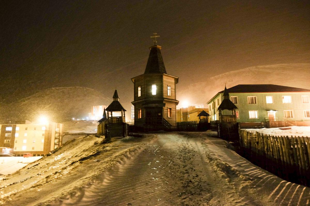 Barentsburg in the winter