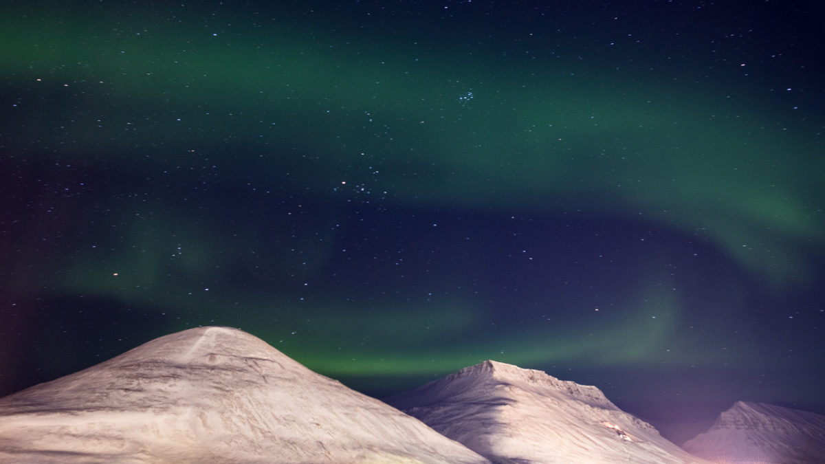 Aurora borealis in Svalbard