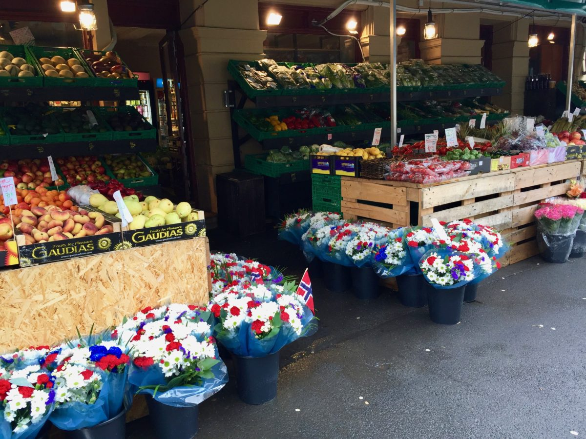 Food market in Oslo