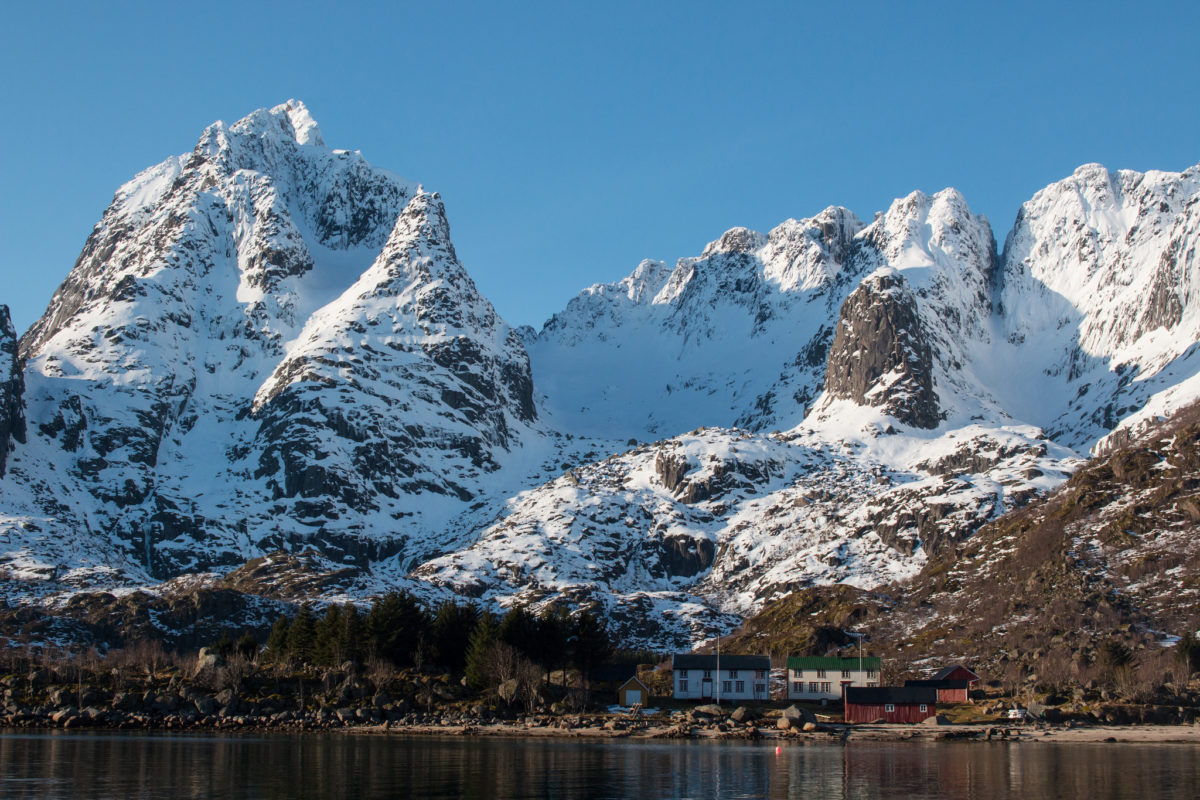 Trollfjord mountains