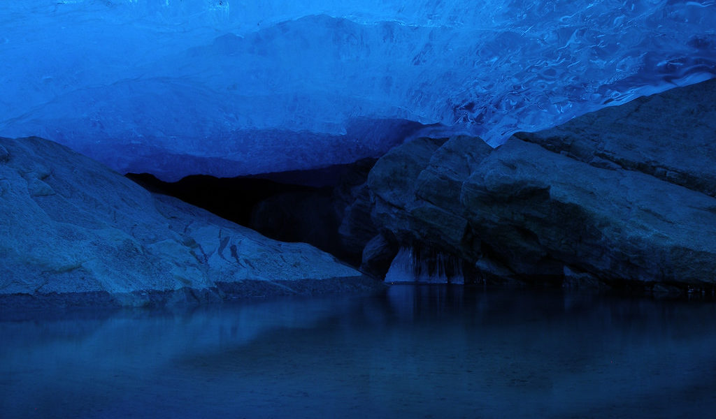 Glacier cave Norway