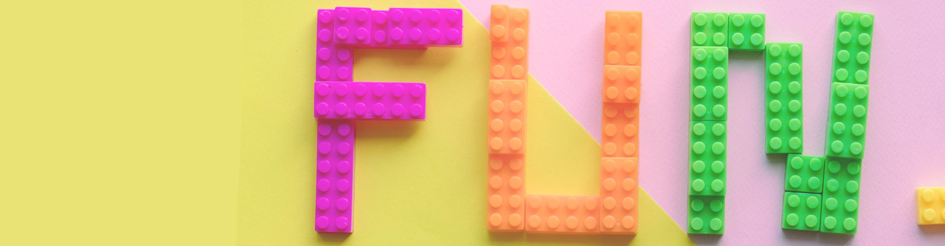 how to make a lego wall - FUN written in lego blocks