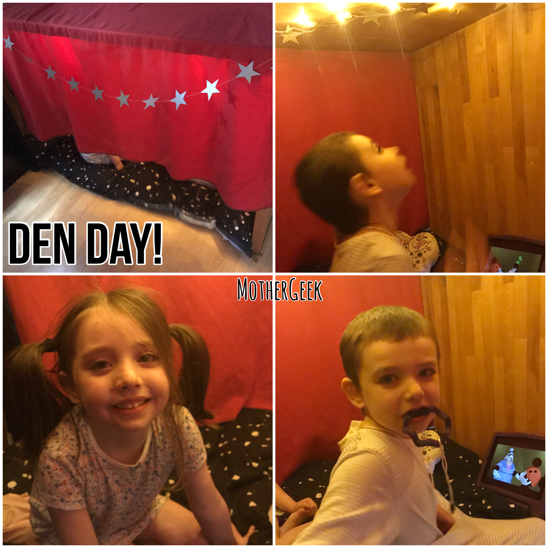free ideas for Summer fun - make a den