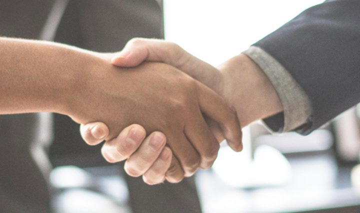 office romances handshake