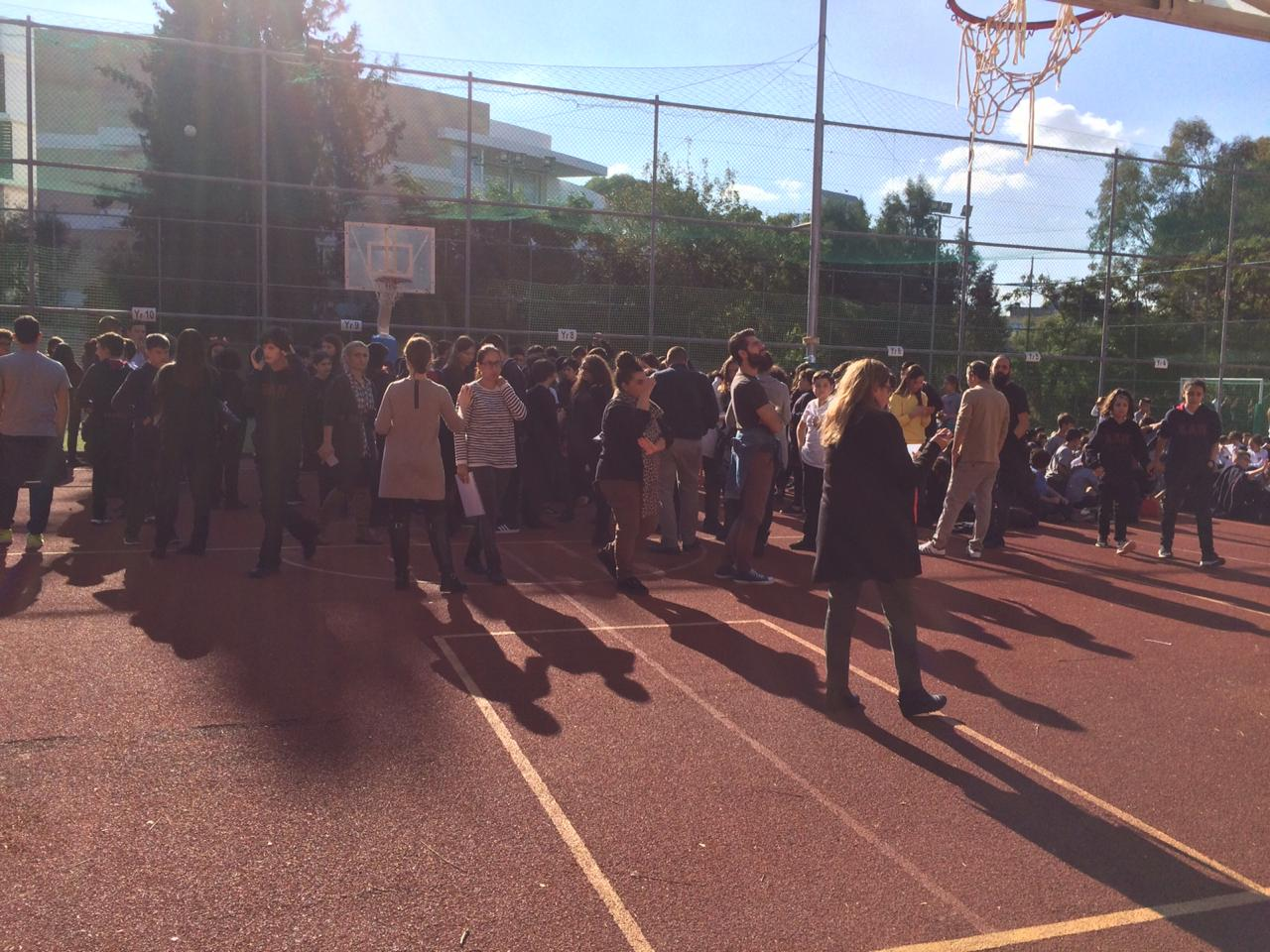 Bomb scare at American academy school in Nicosia, Cyprus. School evacuated 30