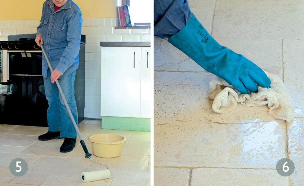 How to clean bathroom tile floor