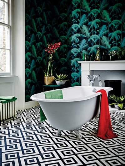 Designer image vinyl floor tile