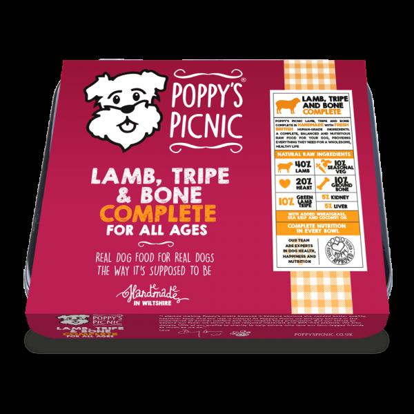 Poppy's Picnic Lamb, Tripe And Bone Raw Dog Food