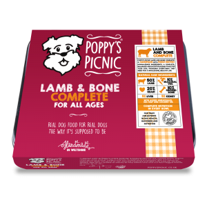Poppy's Picnic Lamb,And Bone Raw Dog Food
