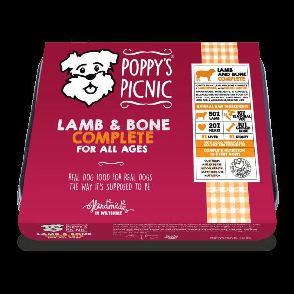 Poppy's Picnic Lamb,And Bone Raw Dog Food