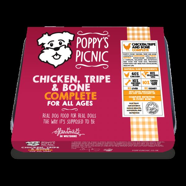 Poppy's Picnic Chicken, Tripe And Bone Raw Dog Food