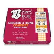 Poppy's Picnic Chicken And Bone Raw Dog Food
