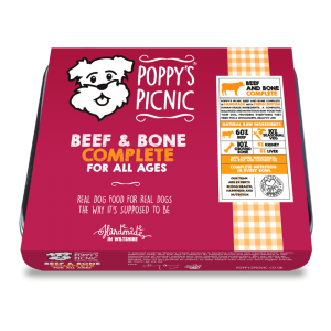 Poppy's Picnic Beef and Bone Raw Dog Food