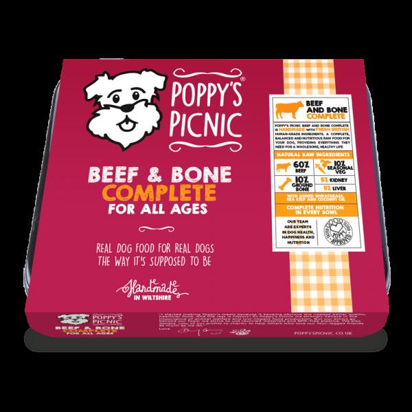 Poppy's Picnic Beef and Bone Raw Dog Food
