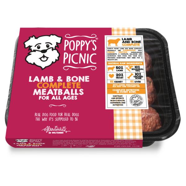 Poppy's-Picnic-3D-pack-Lamb&Bone_Complete_Meatballs