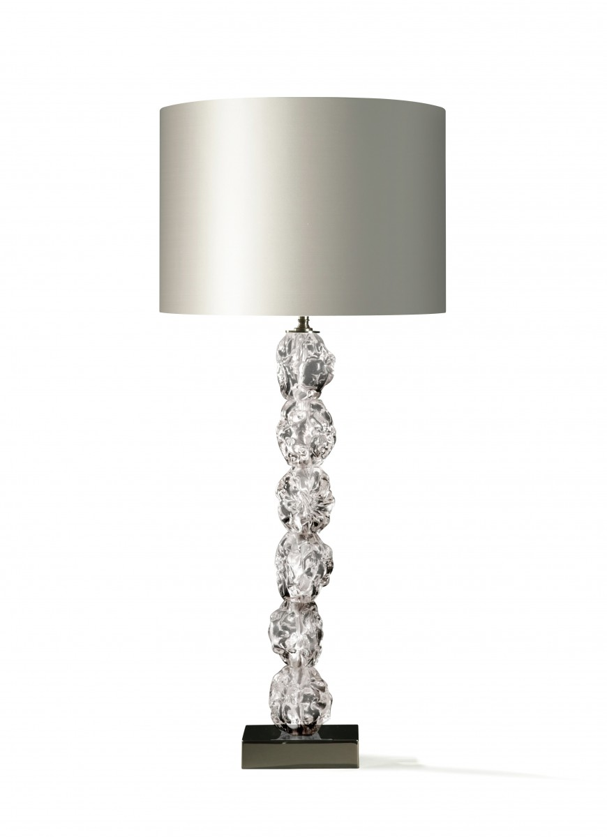 Rock glass lamp glb19 table lamps table lamp porta romana resources mozeypictures Gallery