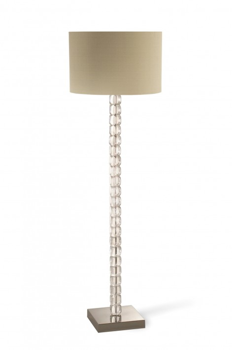 Ice Cube Floor Lamp | Perspex with Nickel Base