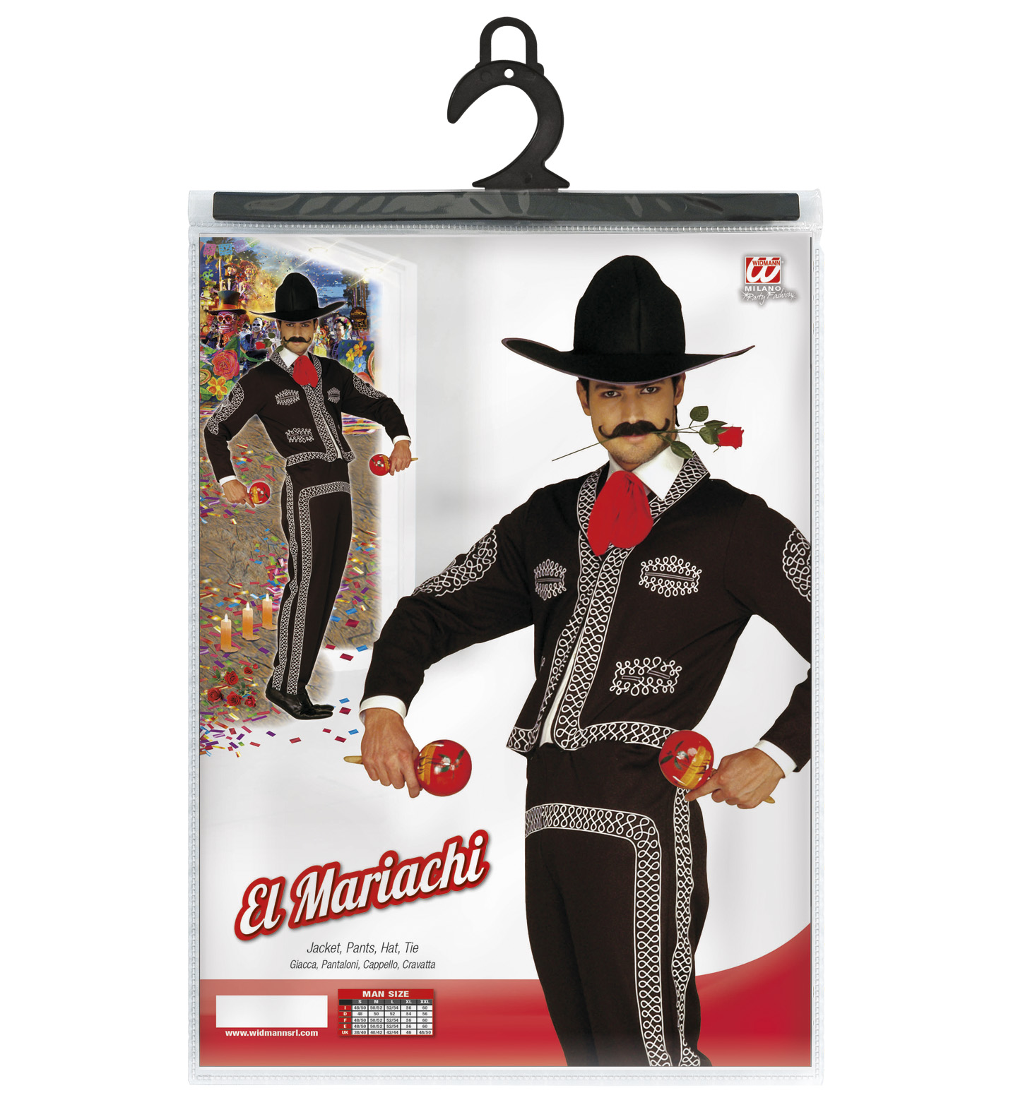 Mens Mariachi Man Costume for Mexican Wild West Fancy Dress