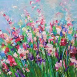 floral abstract meadow flowers michelle carolan