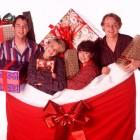 Men Behaving Badly Christmas Special - Neil Morrissey as Tony, Leslie Ash as Deborah, Caroline Quentin as Dorothy and Martin Clunes as Gary