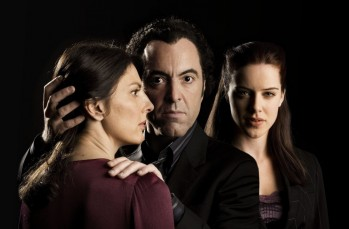 Jekyll - Gina Bellman as Claire Jackman, James Nesbitt as Tom Jackman and Michelle Ryan as Katherine Reimer