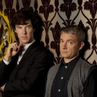 Sherlock and John in the lounge at 221b Baker Street