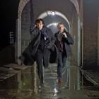 Benedict Cumberbatch as Sherlock Holmes and Martin Freeman as John Watson