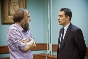 Gábor Vona, leader of Jobbik, with Aleksandr Dugin, the Moscow Professor seen as the chief ideologue of the 'Eurasian Doctrine'