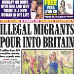 daily express pours in