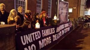 Birthday vigil for Habib Ullah in December 2014 (Credit: Justice4Paps)