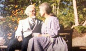 Alois Dvorzak with his wife