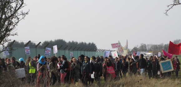 Demonstration at Yarl's Wood in March 2016 (© Aisha Maniar)