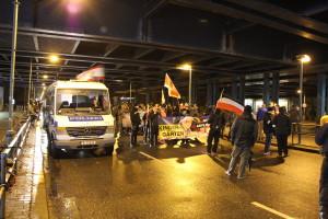 NPD rally through Berlin Prenzlauer Berg. (© Kilian Behren)