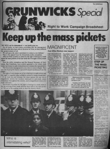 Grunwick's newspaper (credit: IRR Black History Collection)